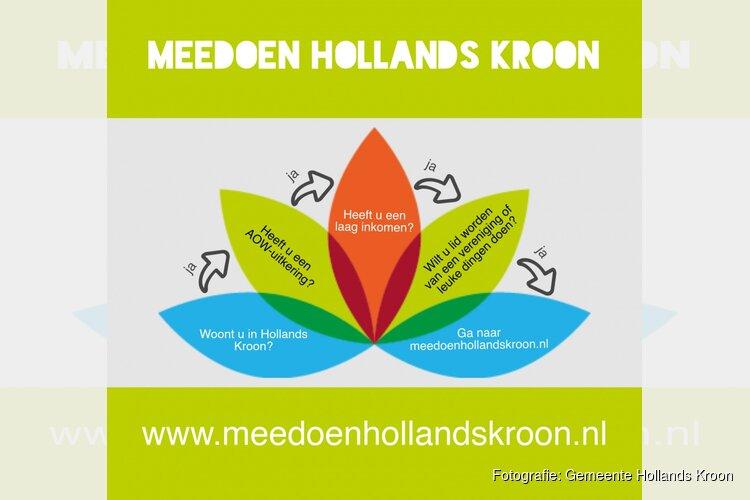 Meedoen Hollands Kroon nu ook voor ouderen!