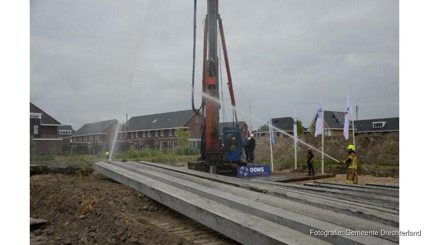 Eerste paal geslagen Reigersborg Noord 3g