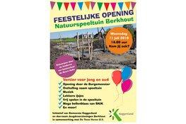Burgemeester Posthumus opent natuurspeeltuin Berkhout