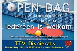 Activiteiten voor jong en oud tijdens open dag TTV Disnierats