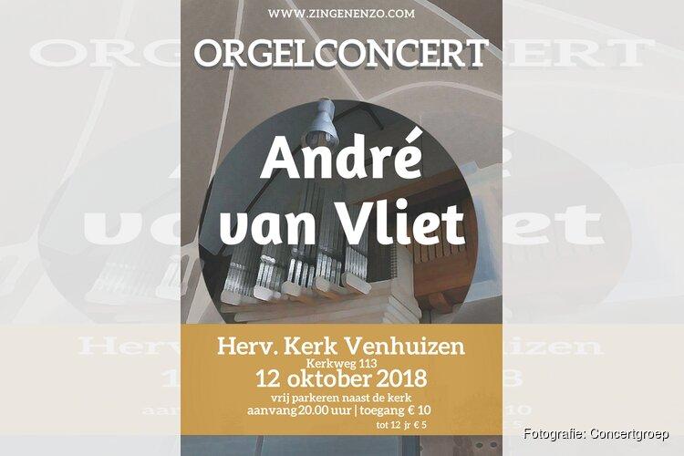 Orgelconcert André van Vliet 12 oktober in Hervormde kerk Venhuizen