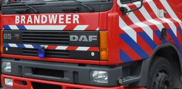 Droger in brand in Zwaag