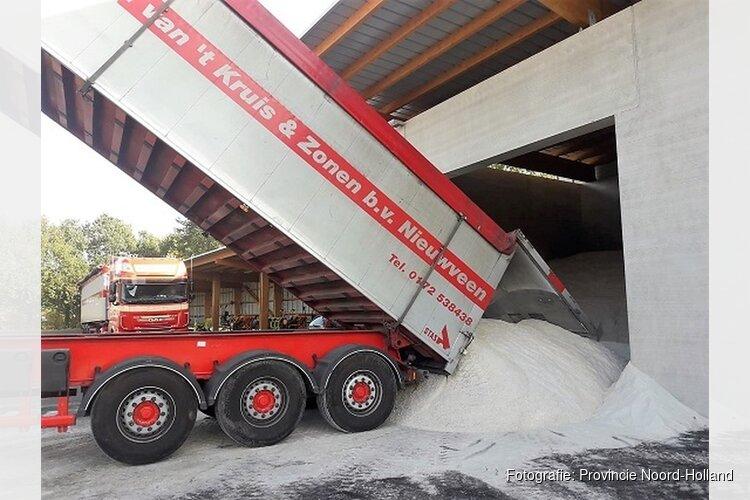 Ruim 600 ton zout voor nieuw steunpunt Heerhugowaard