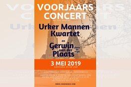 Urker mannen kwartet en Gerwin van der plaat op 3 Mei 2019 in Andijk