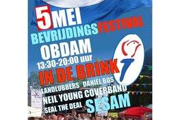 Bevrijdingsfestival in Obdam wordt naar binnen verplaatst