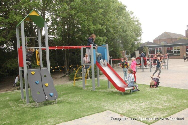 Nieuw ingericht schoolplein laat kinderen meer bewegen