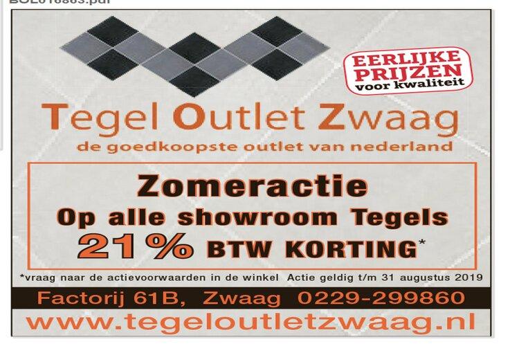 Zomeractie: Fikse BTW-korting bij Tegel Outlet Zwaag