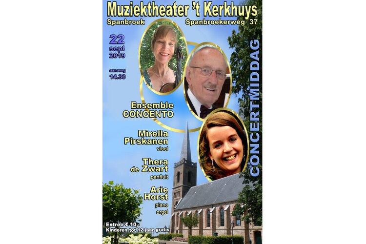 Ensemble 'Concento'  in Muziektheater 't Kerkhuys Spanbroek