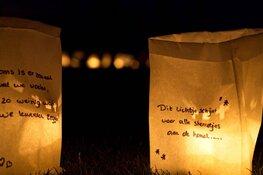Kaarsenzakken versieren voor Samenloop voor Hoop