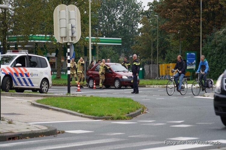 Auto bijna in brand in Hoorn