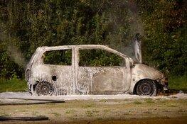 Auto in brand in Hoorn