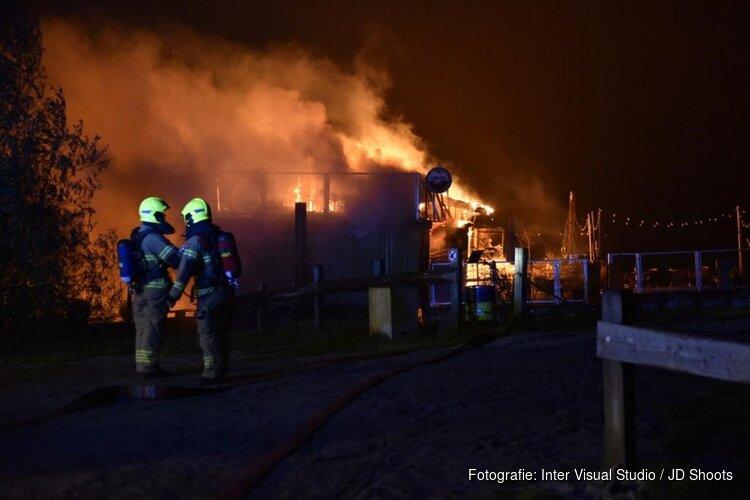 Brand in gebouw in Hoorn