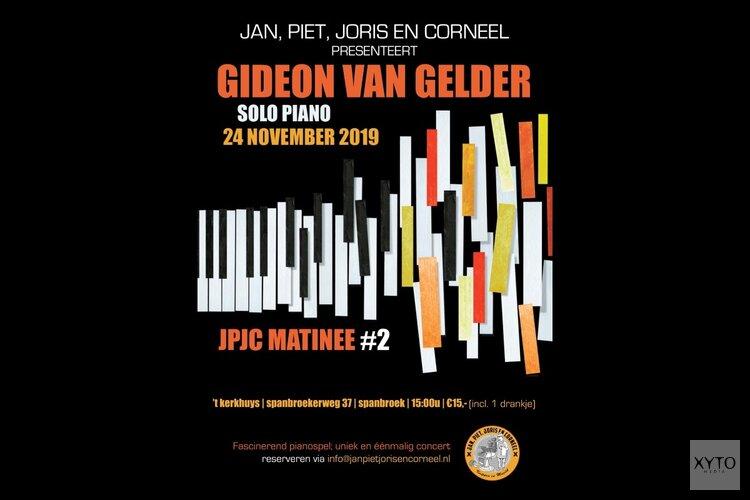 Gideon van Gelder, uniek éénmalig concert; Solo Piano zondag 24 nov aanvang 15.00 uur 't Kerkhuys Spanbroek