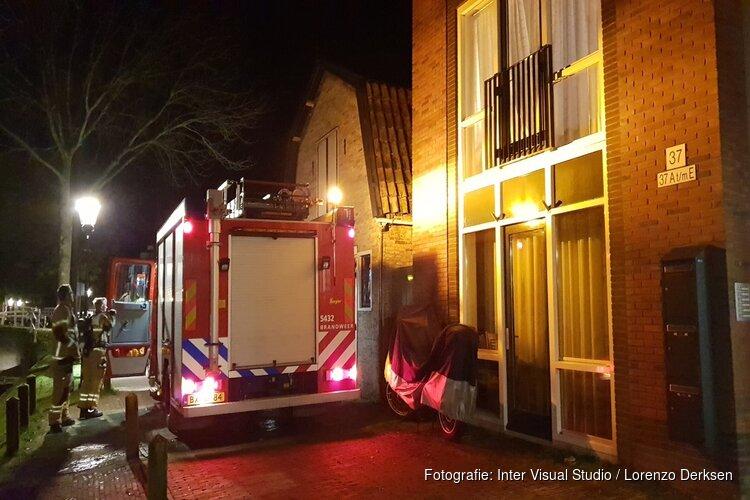 Brand in Medemblik, bewoner naar ziekenhuis
