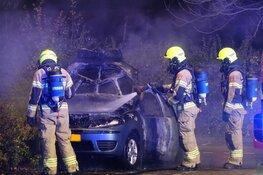 Auto in brand in Enkhuizen