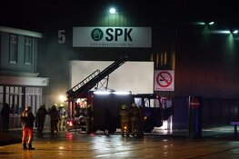 Brand bij recyclingbedrijf in Wognum
