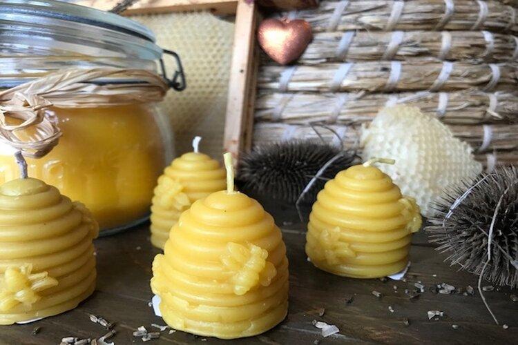 Jam en Zo verkoopt sinds kort  100% Bijen was kaarsen, puur natuur!