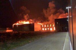 Grote brand in bamboeverwerker Zwaag onder controle: nog wel NL Alert van kracht