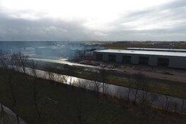 Ravage na verwoestende brand in Zwaag goed zichtbaar vanuit de lucht