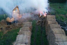 Brand in rietbundels Geestmerambacht: rook- en geuroverlast in omgeving
