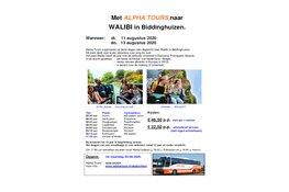 Met Alpha Tours naar WALIBI in Biddinghuizen
