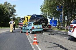 Auto's botsten in Wognum: afrit A7 dicht