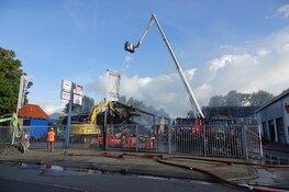 Schade brand Grootebroek overdag goed zichtbaar