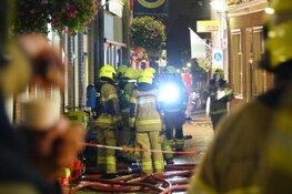 Grote brand in oude binnenstad Enkhuizen