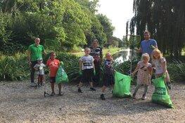 Hoge afval-'oogst' in het Wilhelminaplantsoen